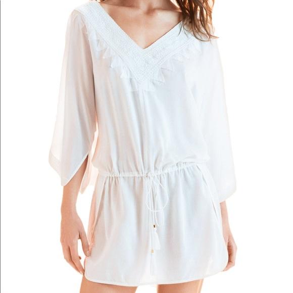 b641a83be9ce7 Vix Swim   Wear White Romance Caftan Bikini Cover Up   Poshmark